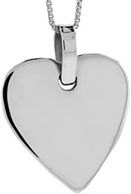Fine Silver Heart-Shaped Pendant