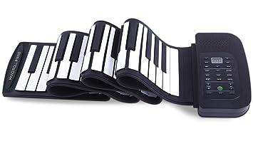 Piano Portátil Flexible De 88 Teclas KD-335 Con Teclado Suave USB Plegable, Apto