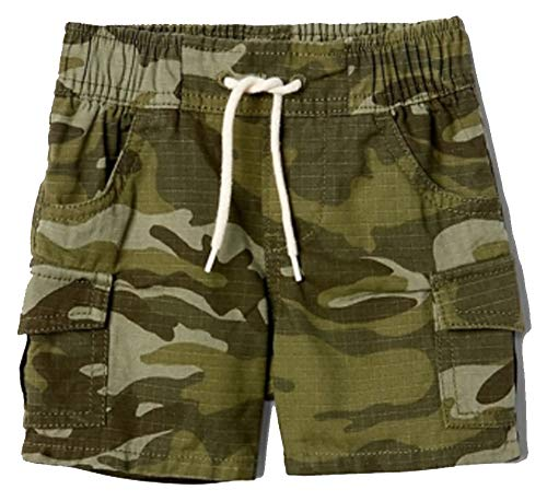 BabyGap Boys Green Camo Pull-On Cargo Shorts 12-18 Months