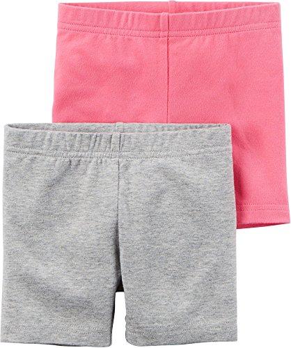 Carters Little Girls 2-Pack Bike Shorts (3T, (Girls Cycling Shorts)