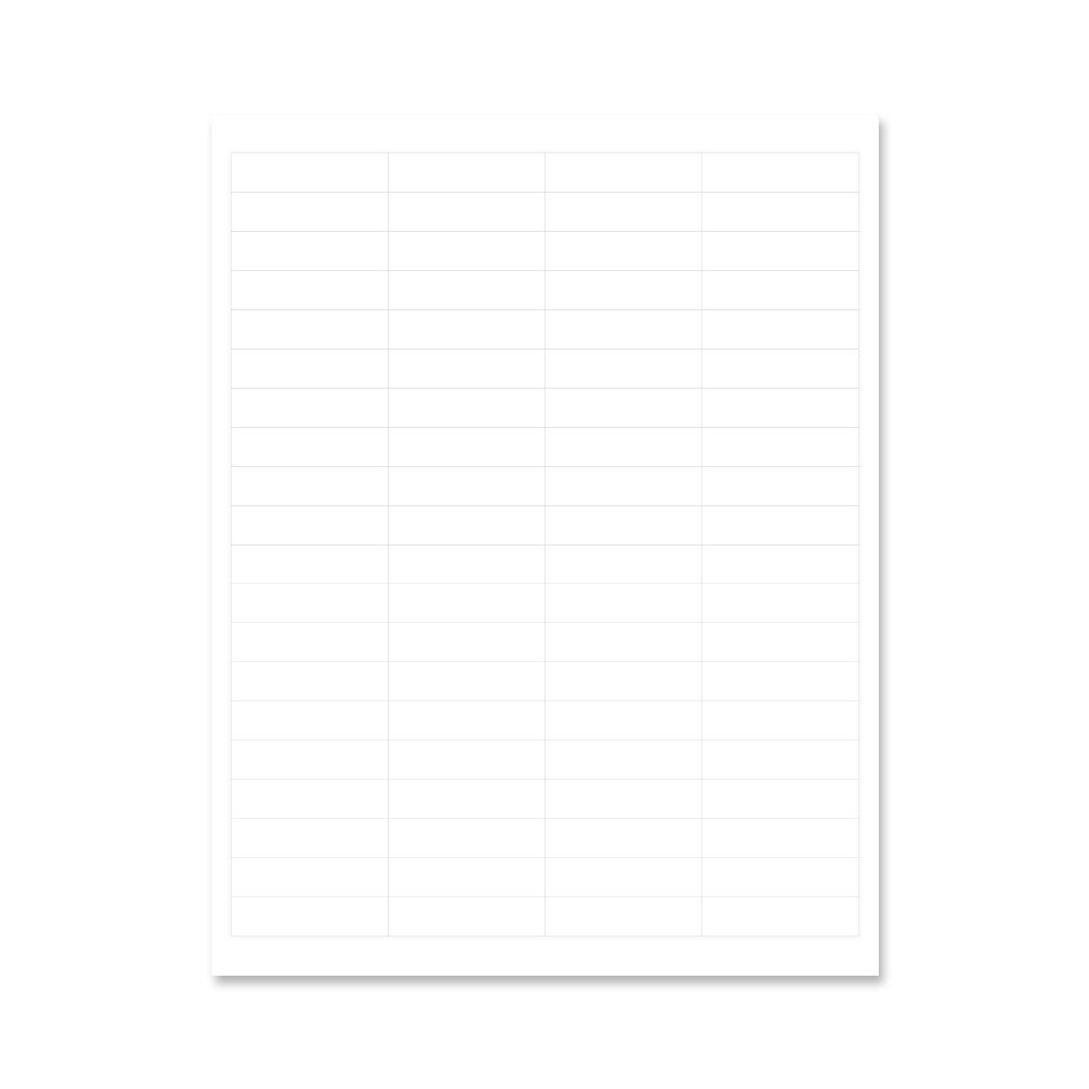 PDC Healthcare GLLS122 Chart Labels Laser, Paper Portrait, 2'' x 1/2, 80 per Sheet, White (Pack of 100)