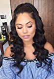 Lwigs Pre Plucked Human Hair 360 Lace Frontal Wig Body Wave Human Hair Lace Front Wigs with Baby Hair All Around 20inch