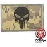 Cobra Tactical Solutions Patch Punisher Toppa Punitore Tactical Army Ricamat Bandiera Punitore Airsoft Cosplay