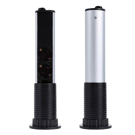 Decdeal UE Regleta de con 3 Tomas y 2 USB, Multiusos Regleta de Enchufes para Cocina, Gabinete Escondido Elevación Inteligente, Impermeable: Amazon.es: ...