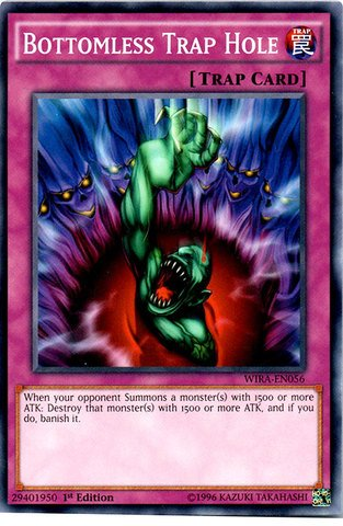 (Yu-Gi-Oh! - Bottomless Trap Hole - WIRA-EN056 - Common - 1st Edition (WIRA-EN056) - Wing Raiders - 1st Edition - Common )