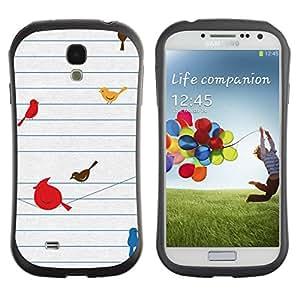 Suave TPU GEL Carcasa Funda Silicona Blando Estuche Caso de protección (para) Samsung Galaxy S4 I9500 / CECELL Phone case / / Birds Cute Drawing Minimalist /