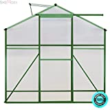 SKEMiDEX---4 x6 ft Walk-in Garden Greenhouse Heavy Duty Green House Roof Aluminum Frame. You can put it in your garden, lawn, backyard, and even in your terrace, deck and balcony