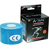 Agam A -Tape Kinesiology Knee, Calf & Thigh Support (Waterproof Spandex Cotton, Blue) 5 Cm X 5 Mtr