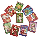 D DOLITY 10 Sets Assorted Christmas Invitation Greeting Cards Wishing Card Xmas Favor