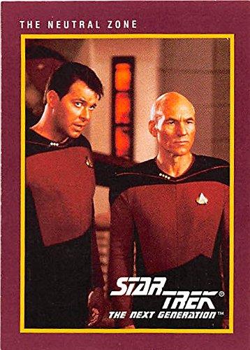 Captain Picard and William Riker trading card Star Trek Next Generation 1991 #32 (Star Trek The Next Generation Trading Cards 1991)