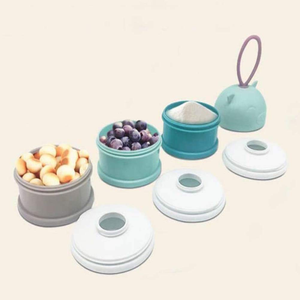 YeahiBaby Milk Powder Dispenser Portable Snack Storage Container for Travel Camping Blue