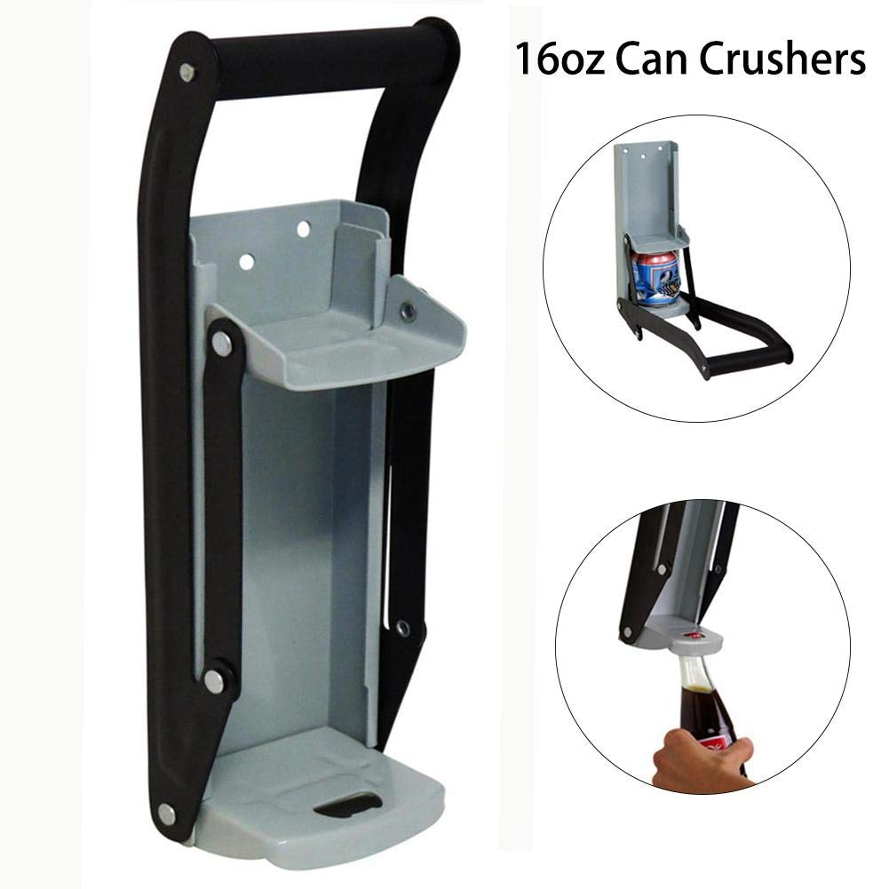 Heavy Duty Metal Can Crusher//Bottle Opener up to 16OZ Cans Beers Soda