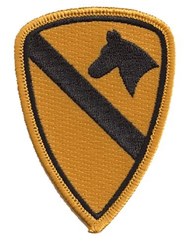 (1st Calvary iron-on embroidered patch )
