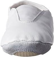 705eeeab5ef7a Danzcue Youth White Leather Gymnastic Shoes 3 M US: Amazon.com