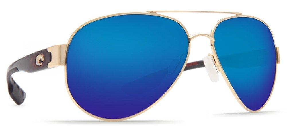 Costa del Mar South Point Sunglass, Gold/Blue Mirror 580Plastic