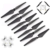 JouerNow 8PCS 9450 Carbon Fiber Self Locking Enhanced Prop Propeller for DJI Phantom 3 2 E300 Black