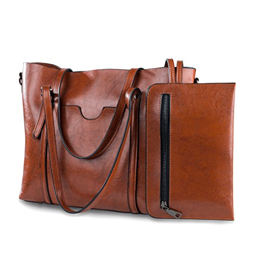 Women Bag Casual Vintage Shoulder Bag Handbags Cross Body Bag Large Capacity Brown Bags Tote - Purse Leather Vintage