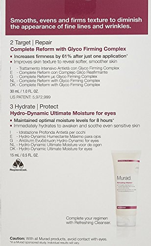 Murad Smooth Set - Hydro-Dynamic Ultimate Moisture for Eyes (0.5 fl oz) + Complete Reform with Glyco Firming Complex (1 fl oz)