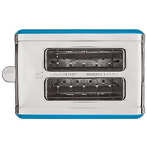 BELLA LINEA 2 Slice Toaster with Extra Wide Slot, Color Teal by BELLA (Image #3)