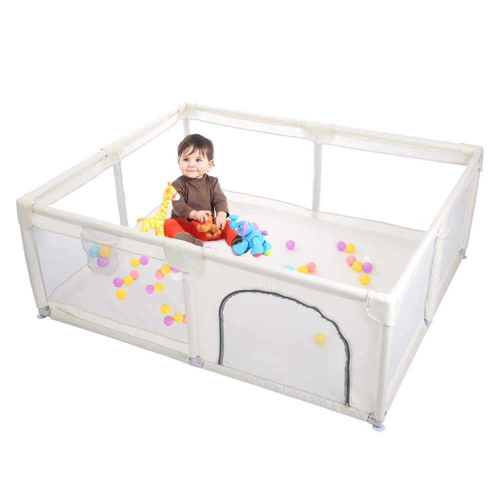 Babies Playpen for Babies Indoor and Outdoor Toddler Playpen with Gates Play Pen for Infants Baby Playpen Kids Safety Activity Center Extra Large Baby Fence Baby Play Yards Kids and Toddler