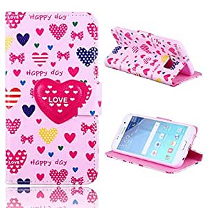 20150511 Love Button Pattern PU Leather Full Body Case with Stand for Samsung Galaxy S6