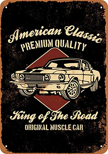 Wall-Color 10 x 14 Metal Sign - American Classic Muscle Cars - Vintage Look