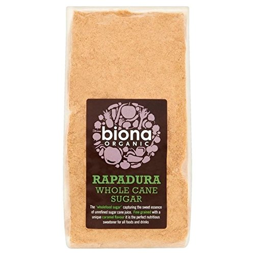 Whole Sugar Cane (Biona Organic Rapadura Whole Cane Sugar 500g - Pack of 2)