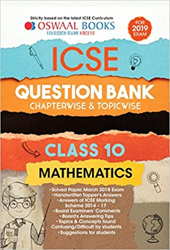 Amazon in: Buy Oswaal ICSE Question Bank Class 10 Maths Chapterwise