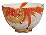Kutani Yaki Phoenix Porcelain 4.7inch Matcha Bowl
