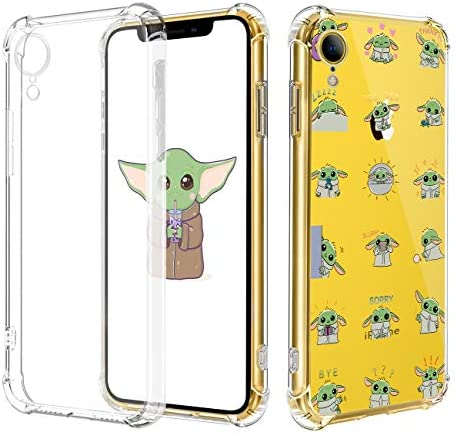 Oqpa For Iphone Xr Case Cartoon Character Funny Cute Fun Tpu Design Cover For Girls Men Women Teen Fashion Cool Unique Anime Protective Aesthetic Clear Cases Small Yuda Baby For Iphone Xr