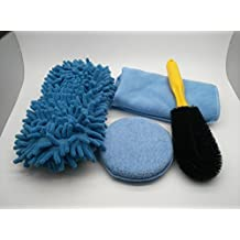 MICROFIBER CHENILLE DETAILING SPONGE – MICROFIBER TERRY CLOTH – MICROFIBER POLISH WAXING PAD – CAR TIRE RIM BRUSH FOR CAR WASH, CAR INTERIOR, HOME,OFFICE.