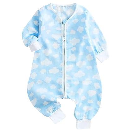 Gleecare Saco de Dormir para bebé,Gasa de Manga Larga bebé otoño Partida Ropa de