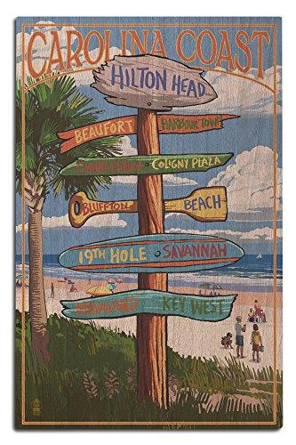 Hilton Head, South Carolina - Destinations Sign (12x18 Wood Wall Sign, Wall Decor Ready to - Hilton Head Bluffton