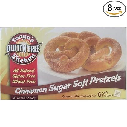 Sin Gluten Azúcar de canela) suaves Pretzels – 16,2 oz (Pack ...