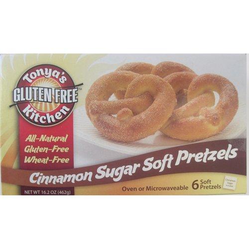 Gluten Free Cinnamon Sugar Soft Pretzels - 16.2 oz (Pack of 8) by Tonya's Gluten Free Kitchen