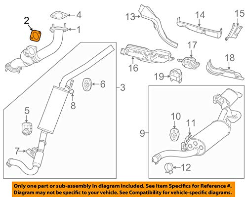 Exhaust Gasket Crossover Pipe - Volkswagen 7B0 253 115, Exhaust Pipe to Manifold Gasket