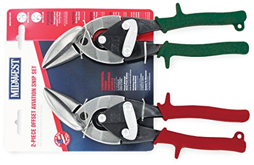 (Midwest Tool and Cutlery MW-P6510C Forged Blade Offset Aviation Snips Set, 2-Piece)