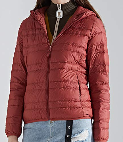 Outwear Down Down Women's Ultra Puffer Warm Rust Jacket Medeshe Light Hoodie Coats X6Owxw07