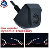 Auto Wayfeng WF Wired Rear Tailgate Dynamic Trajectory Rearview Car Camera Moving Guidelines, Black