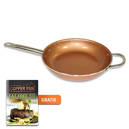 starlyf® Copper Pan - Sartén de Cobre de cerámica con Revestimiento Antiadherente diámetro 28 cm