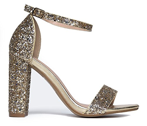 Shirley High Heel Pump, Gold Glitter, 8.5 B(M) US