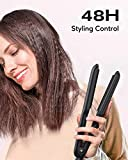 KIPOZI Pro 1-1/2 Inch Volumizing Hair Iron, Crimper Hair Iron for Creating Volume, Wide Plates Hair Crimper with 19 Temperature Settings for Faster Completion