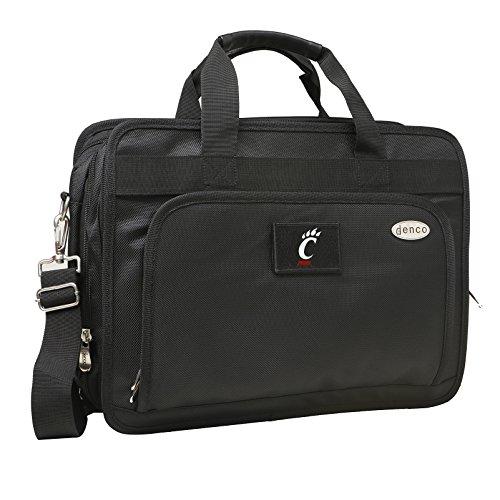 NCAA Cincinnati Bearcats Expandable Laptop Briefcase, 13-Inch, Black by Denco