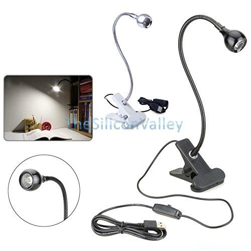 USB 3 LED Clip On Lamp Bulb For Laptop Computer Black - 6
