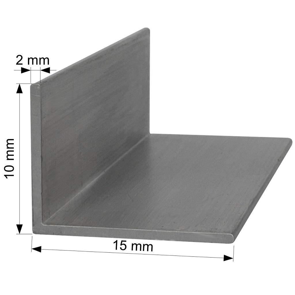 20cm 200mm Aluminium L-Profil 15x10 x 2 mm Winkel Winkelprofil Stange Alu Aluminiumprofil L/änge 0,2m