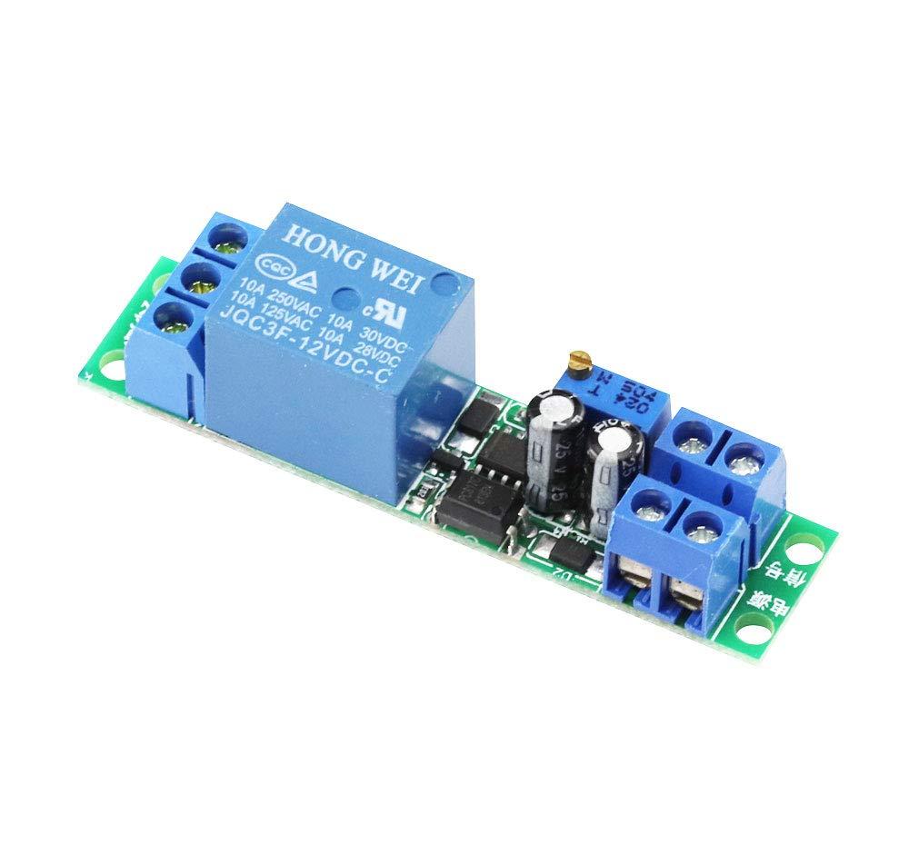 Aihasd DC 12V Delay Relay Module Board 0-25 Sekunden Einstellbares Timer Relais Ein- Ausschaltmodul mit Optokoppler Isolator