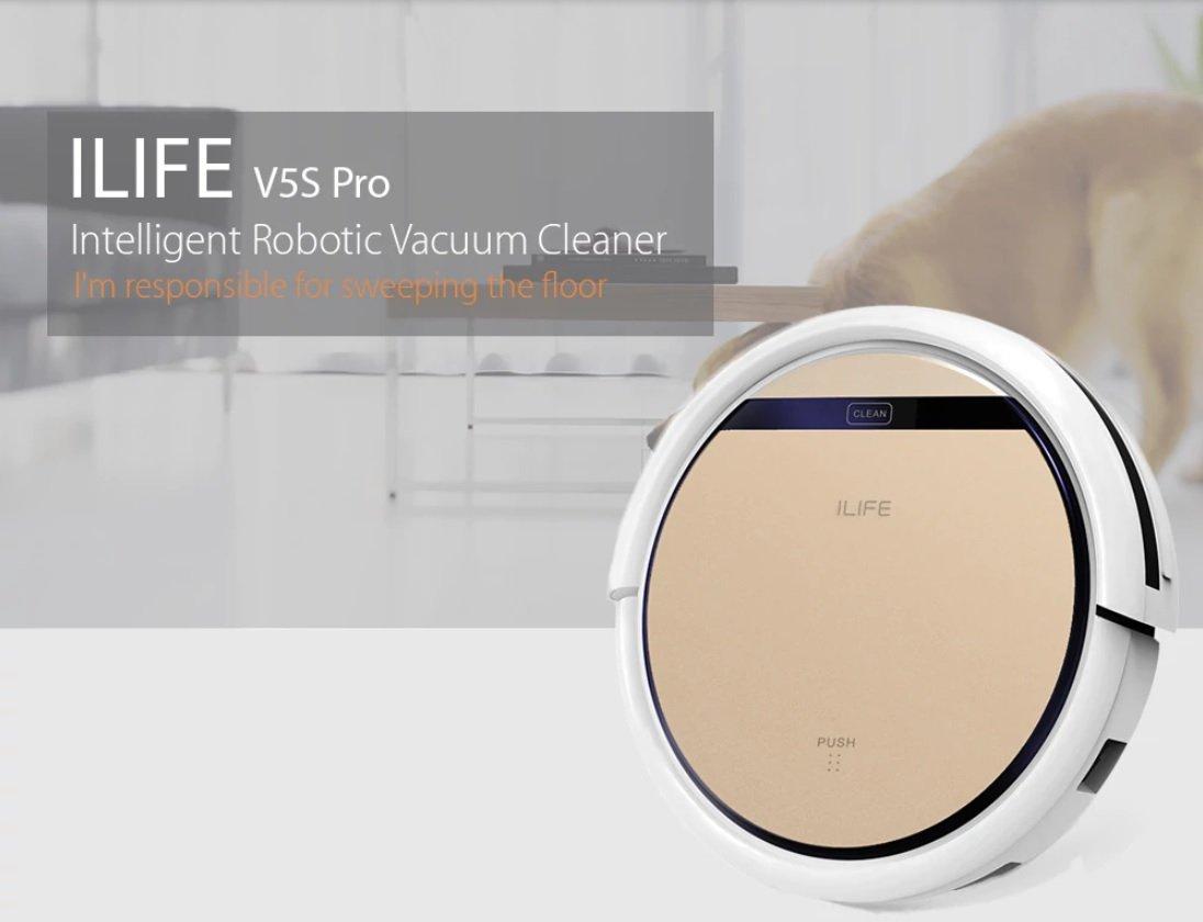 iLife V5S Pro Robot aspirador inteligente limpiador automático máquina de limpieza en seco y húmedo: Amazon.es: Hogar