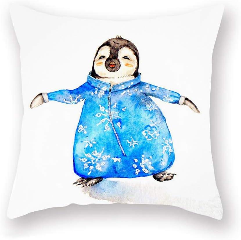 XihomeliPenguin Baby Print Throw Pillow Covers Home Decor Animal Farmhouse Super Soft Winter Cushion Case for Men Women Kids Sofa Bed 18x18 Inch (Penguin 01)