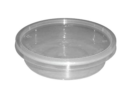 100 x redondo vasos de plástico transparente apta para microondas ...