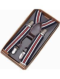 Feibi(TM) Toddler Baby Suspender Y Back Elastic Adjustable Clip-on Solid Color Suspender for Children Child Kids Boys Grils